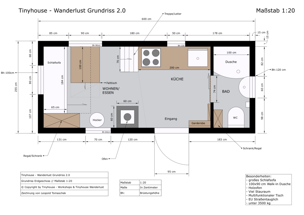 Tinyhouse - Wanderlust 2.0 Grundriss EG