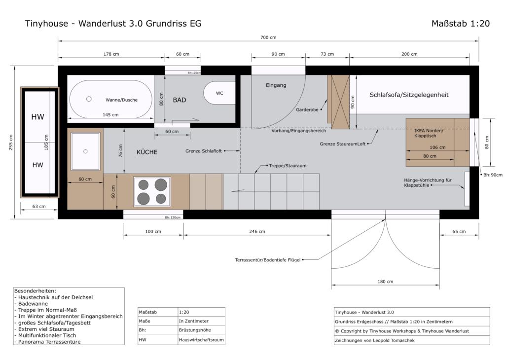 Tinyhouse - Wanderlust 3.0 Grundriss EG